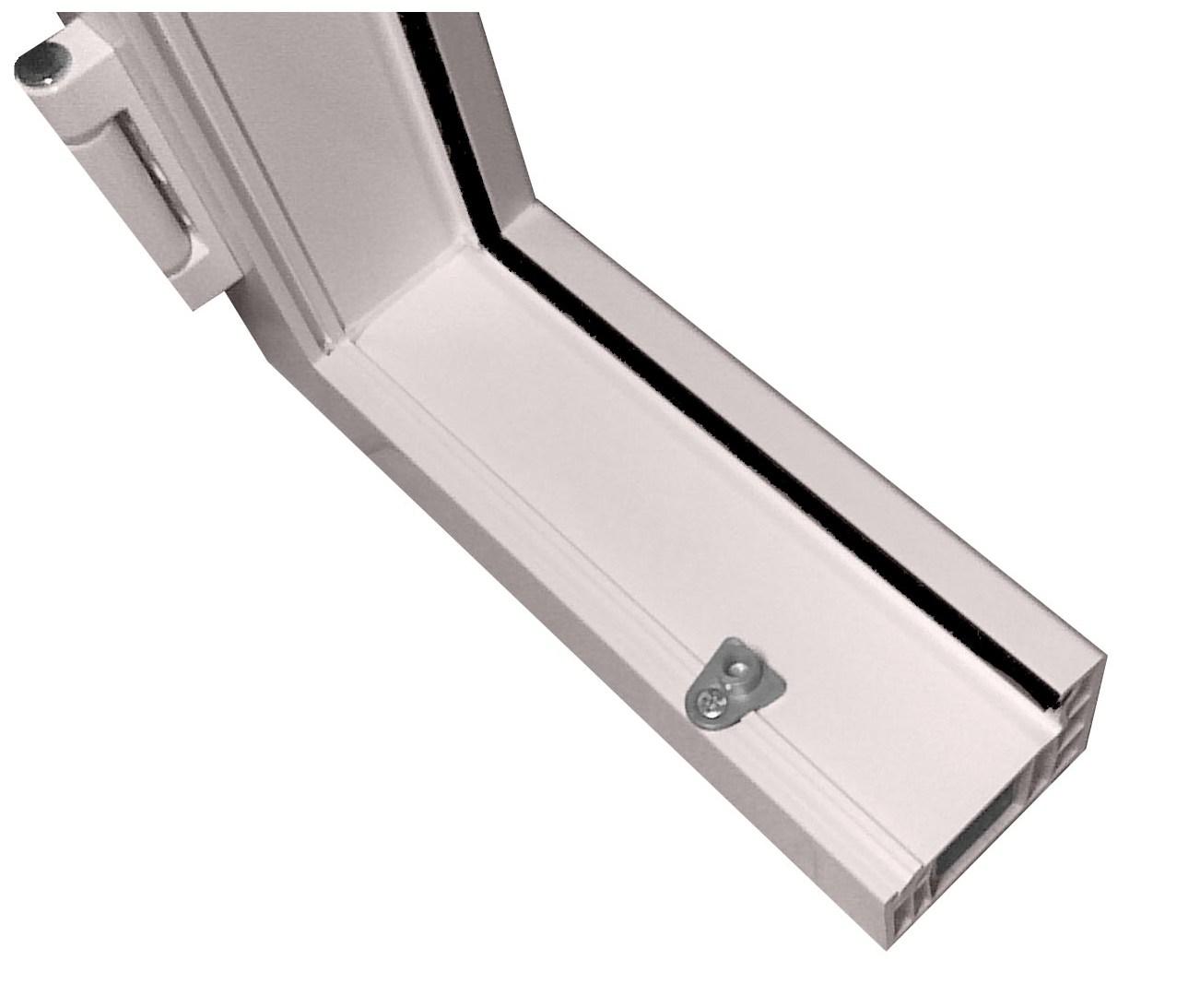 пильовик встановлений у пластикові вікна